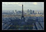 Le champ de Mars, La tour Eiffel, le trocadéro, le 16eme, le bois de boulogne, la defense.