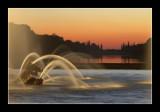 Sunset at the bassin du char d'Apollon 1
