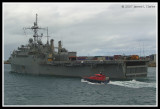 USS Dubuque with Pilot Boat