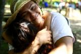 Grammy B hugs Lucia
