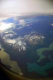 Aerial view Torres del Paine