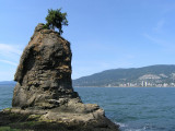 Siwash Rock, with West Vancouver in the background