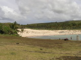 at the north end of the island is the lovely Anakena Beach.....