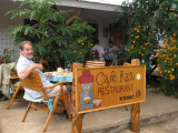...at a cafe in the centre of Hanga Roa, together with an old friend.....