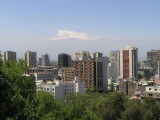 ...and passing briefly through Santiago, then south to.....