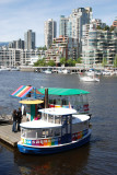 little ferry boats carry passengers across and around False Creek.....