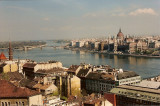 Duna (Danube) River and Pest from the Buda Hills