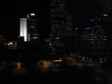 Duke Energy Building is lit up.
