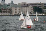 Three Sail Boats In Kingston Harbor