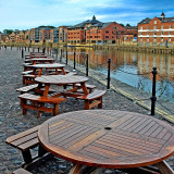 Round tables and river, York
