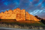 The walls at sunset, York