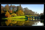 Turf bridge and light, Stourhead