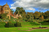 Fountain and house, Knightshayes (D80)