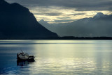 Lonely boat, Montreux (2394)