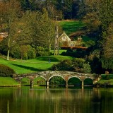 Bridge and monument, Stourhead