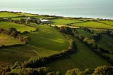 Farm from Porlock Hill, Somerset
