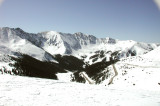 The view from the east slope at Loveland Pass