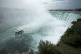 View of the Maid of the Mist from above