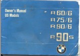 BMW Motorcycle R60/6, R75/6, R90/6, R90S Owner's Manual