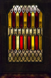 Catalan flag in glass