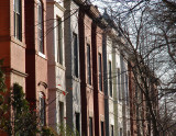 A row of rowhouses