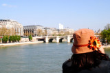 Tournesol sur le  Pont-des-Arts.