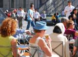 Paris. Terrasse du café Marly.