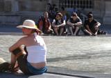 Bains de pieds au Louvre.