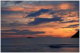 Night view from Refviksanden beach ,Ervik