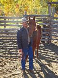 Horse Packer Wendell With One Of His New Horses