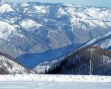 Snow Mobiler's View Of Lake Chelan