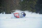 Paul Up On One Ski During Sharp Turn