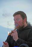 Paul Enjoy A Cigar After Lunch.