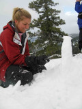 Michelle Building Husband Paul  A  Snow Headstone