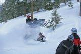 Jason Jumping Road And Snowmobile On His New Dragon