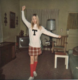 Little Barbie Practicing Her Cheers ( 6th Grade, 1974)