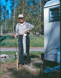Grampa Dodge ( Earl) With Steelhead)  1966