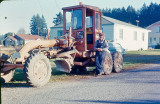 Grampa Dodge With His  Roadgrader From State Job, 1965