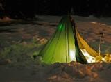 Night Winter Camp In The Cascades ( Trinity)
