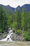 Creek In Tumwater Canyon Flowing Into Wenatchee River