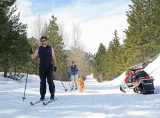 Cross Country Skiers Enjoying A Trip ALong Entiat River