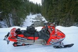 My Sled With View Of Upper Entiat River