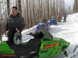 Lucky Rider Reflects After  Close Call On His Snowmobile