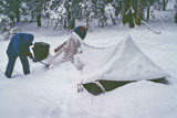 Morning Camp After A Cold Snowy Spring Night!!!