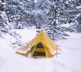 Strider's  Sierra Designs Starlite Tent After A Snowy Night