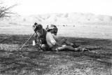 Bill Jensen Rests In San Felipe Valley ( Note Collin Fletcher Use Of Ice Axe Prop)