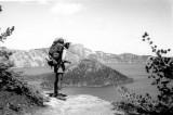 Bill Jensen Views Crater lake And Wizard Island.