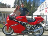 Duccati Road Bike With Heather And Tyler At Timberline Motorsports