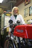 Wildman , Bike Master,   Phil Weigel Finishing Up 1970 Triumph Cafe Racer