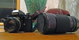 Nikon F3 With F1.4 Lens And Tokina 35mm-200mm Lens